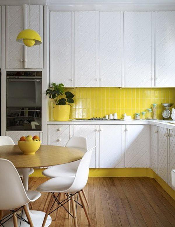 13. Yellow Kitchen Backsplash