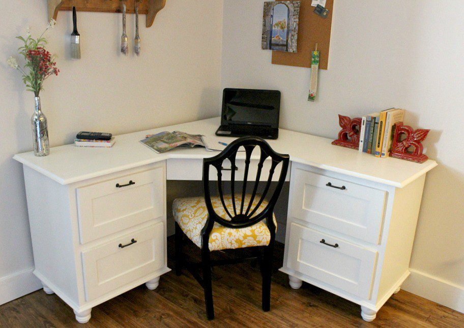 14 DIY Single Person Corner Desk