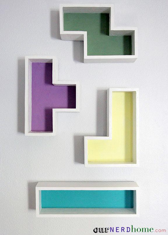 14. DIY Tetris Shelves