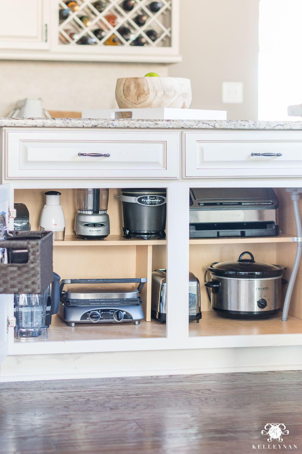 14. Lower Cabinet Storage For Kitchen Appliances