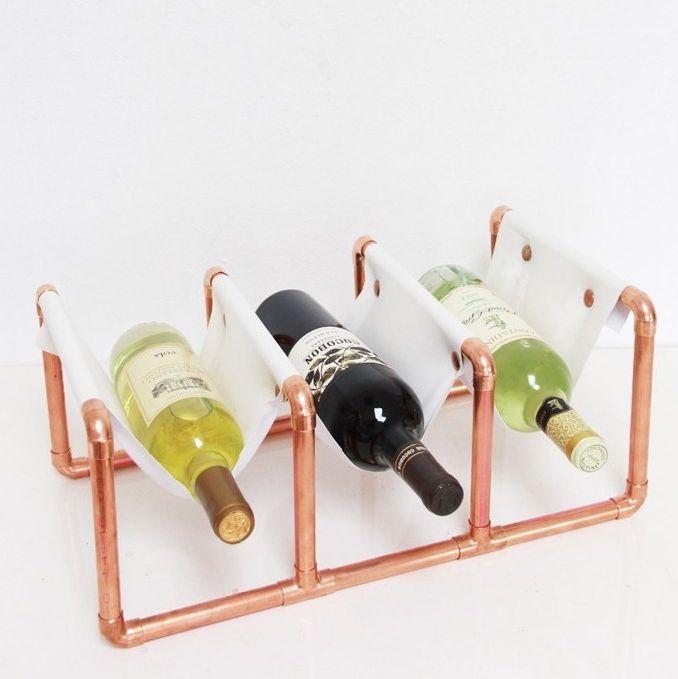 15. Copper Wine Rack DIY