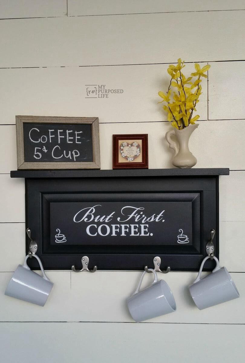 15. DIY Coffee Cabinet Sign