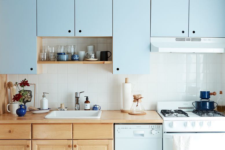 15. DIY Rental Kitchen Makeover With Paint