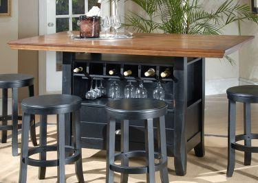 15. Kitchen Table With Wine Storage