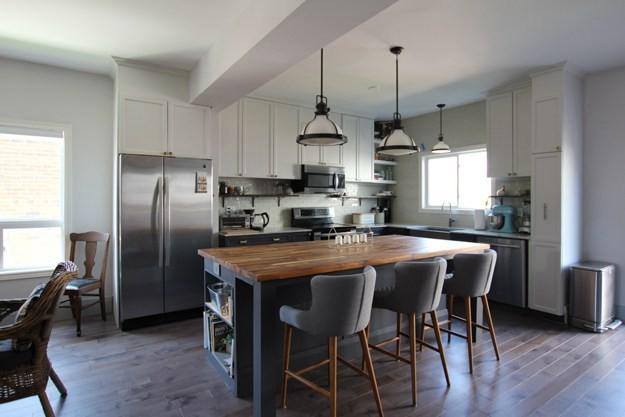15. Modern Standard Kitchen Island DIY