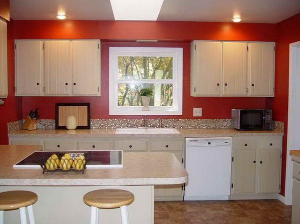 15. Red Kitchen Wall
