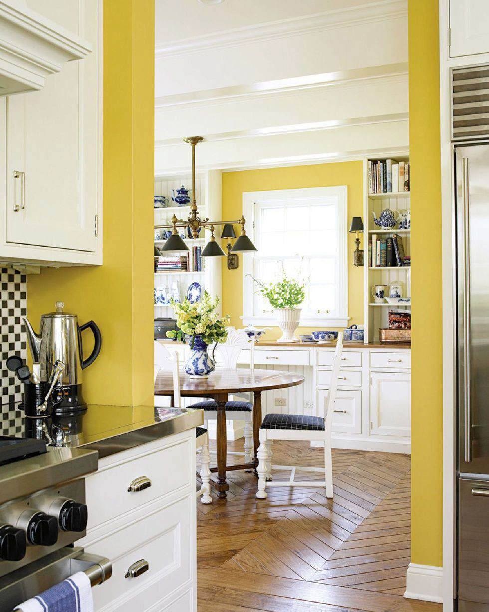 15. Yellow Painted Kitchen