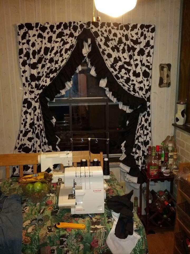 16. Cow Kitchen Window Curtain