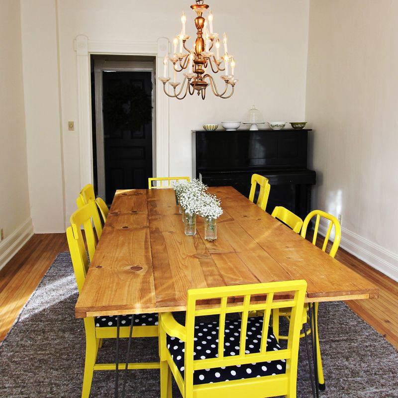 16. DIY Large Kitchen Table