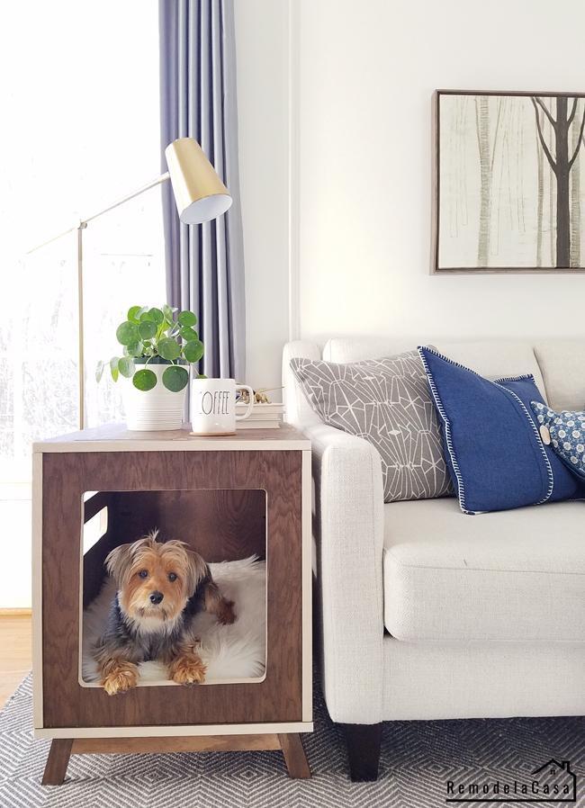 16. Dog Bedside End Table