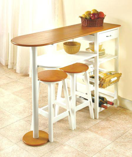 16. Smallest Size Kitchen Table With Shelves