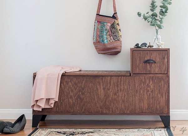 17. DIY Bench With Storage