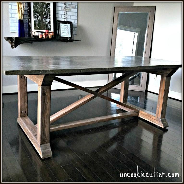 17. DIY Concrete Kitchen Table