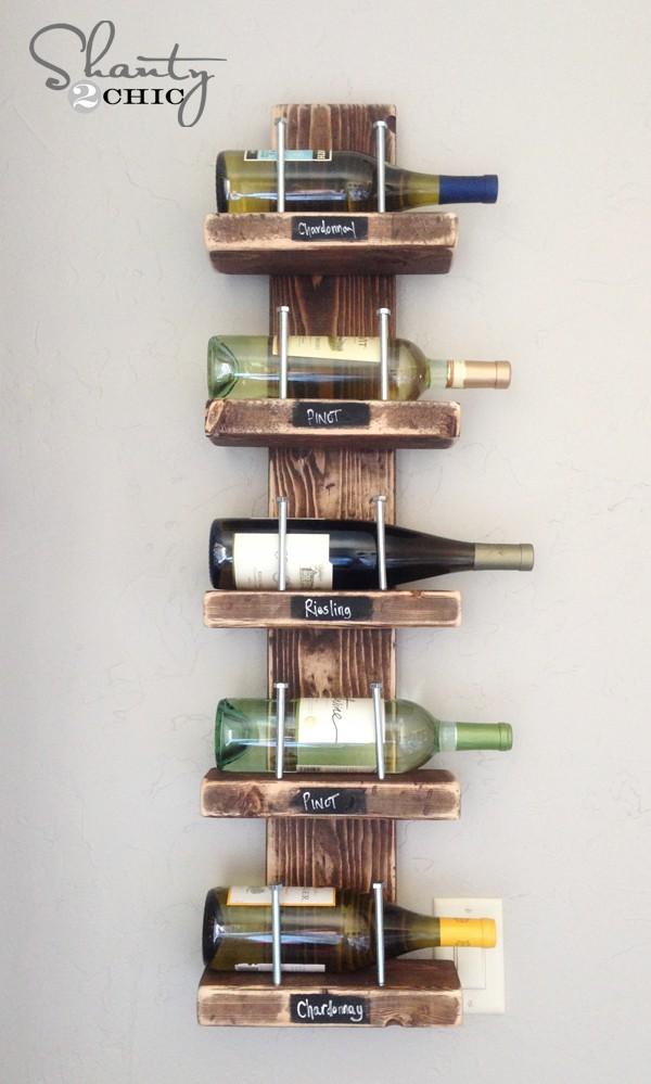 17. DIY Easy Wine Rack