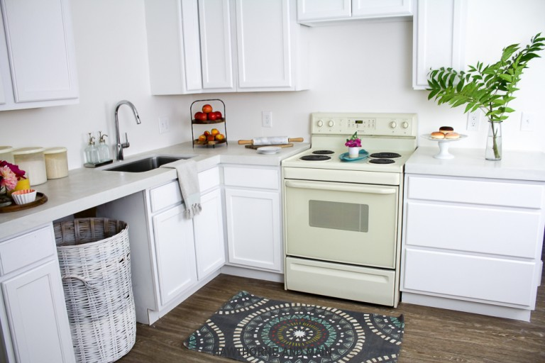 17. DIY Kitchen Countertop With Cement
