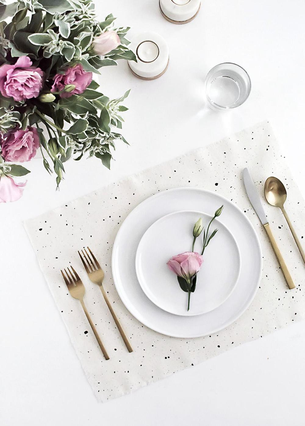17. DIY Speckled Placemats