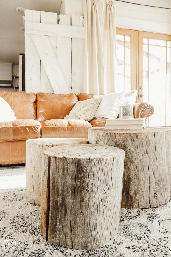 17. DIY Tree Stump Coffee Table