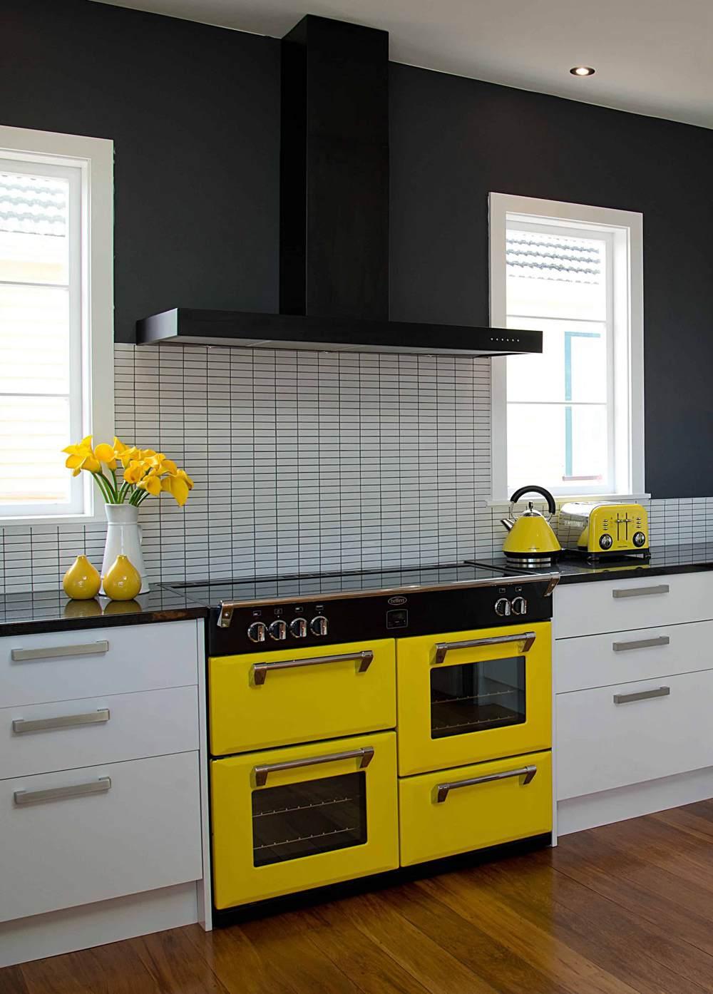 17. Yellow Kitchen Appliances