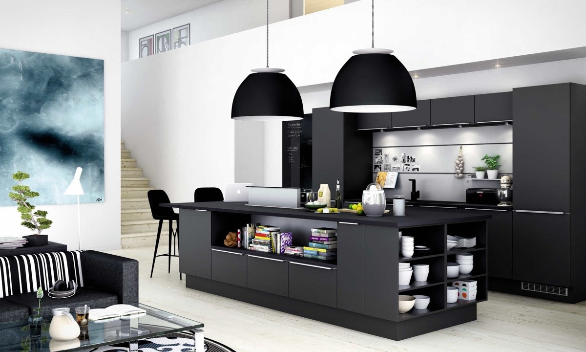 18. All-Black Kitchen