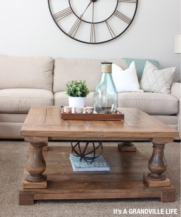 18. Balustrade Coffee Table DIY