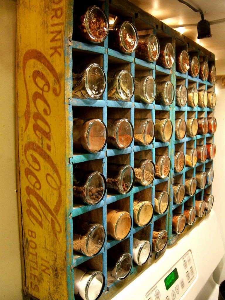 18. Coke Bottle Spice Rack