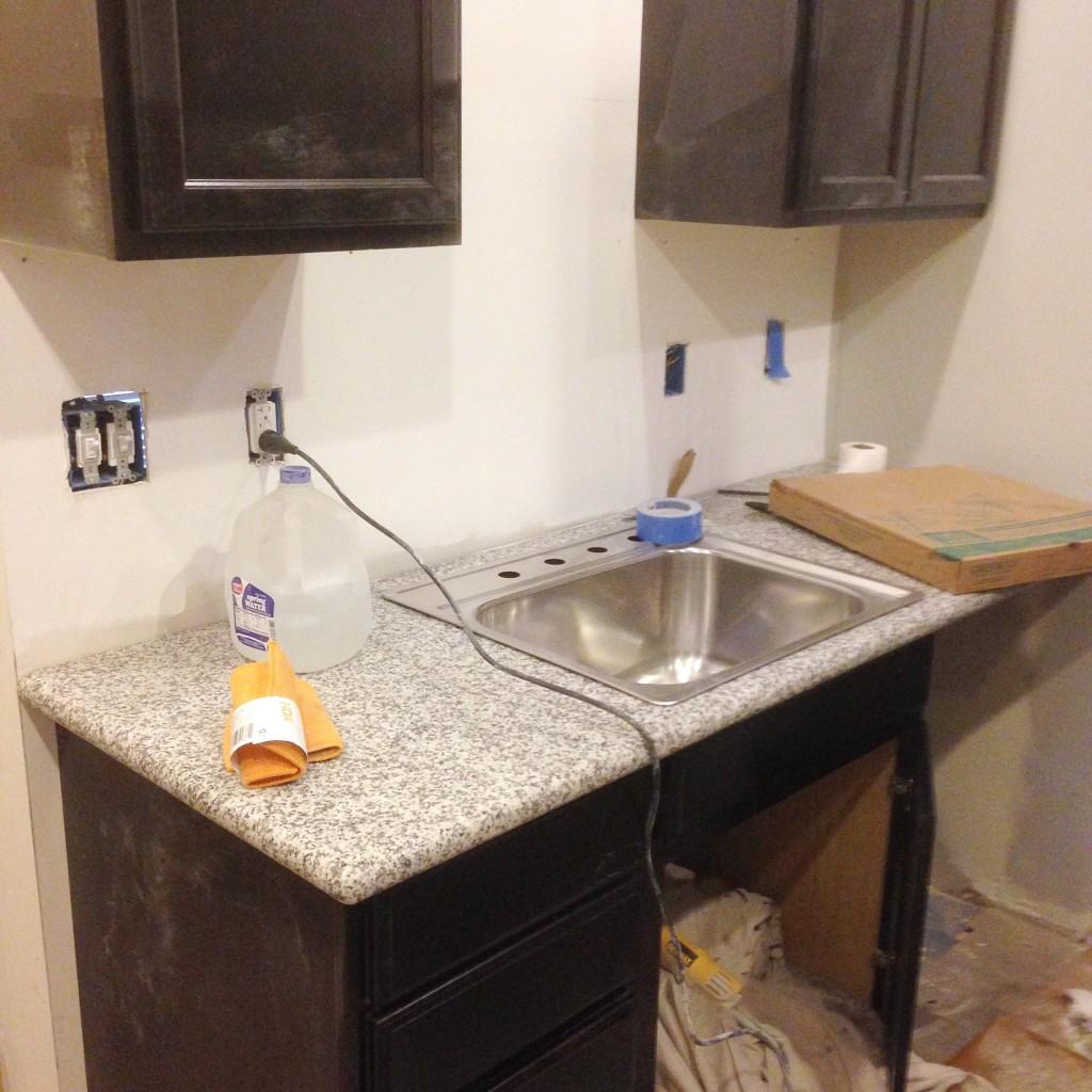 18. DIY Granite Slab Kitchen Countertop