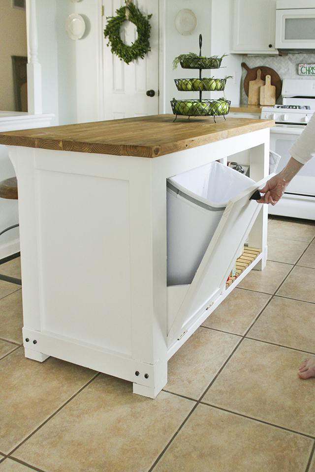 18. DIY Kitchen Trash Storage