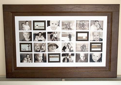 18. DIY Photo Collage From Cabinet Door