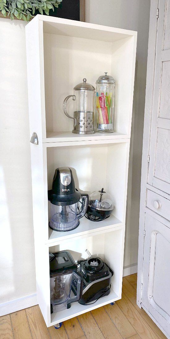 18. DIY Rolling Appliance Storage