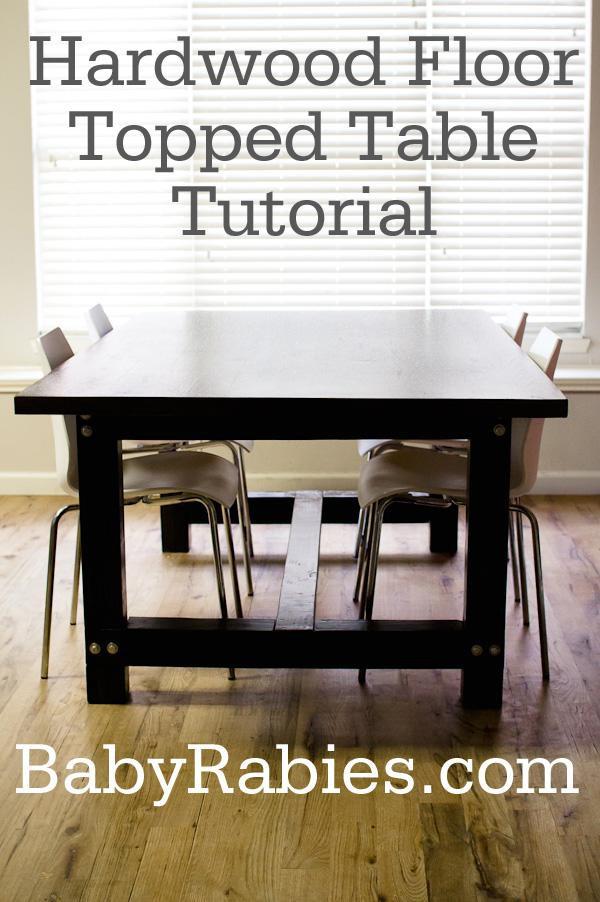 18. Hardwood Floor Topped Kitchen Table