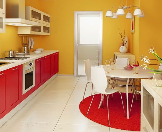 18. Red And Yellow Kitchen Decor