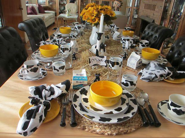 19. Cow Kitchen Dining Tableware
