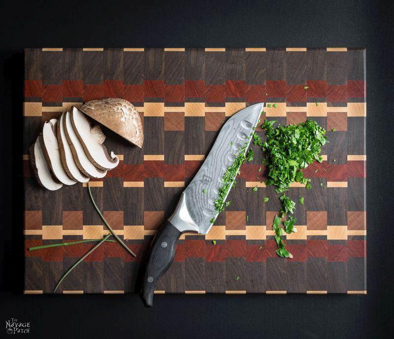 19. DIY End-Grain Cutting Board