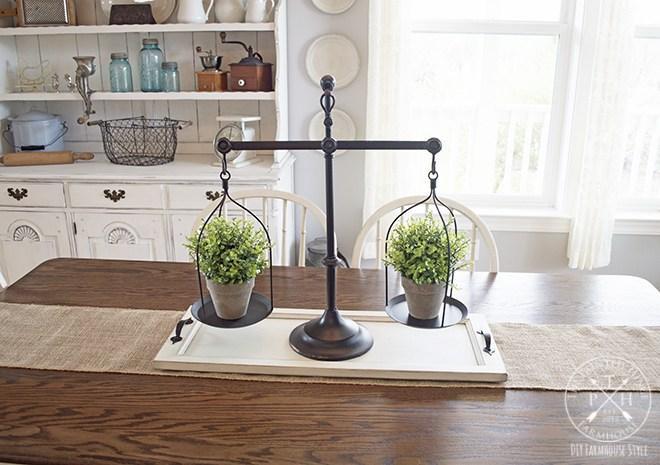 19. DIY Farmhouse Tray From Cabinet Door