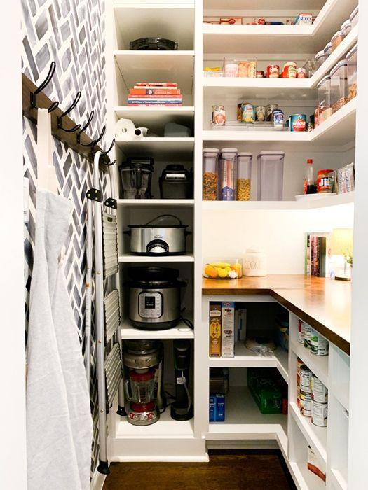 19. Small Kitchen Appliance Storage Shelf