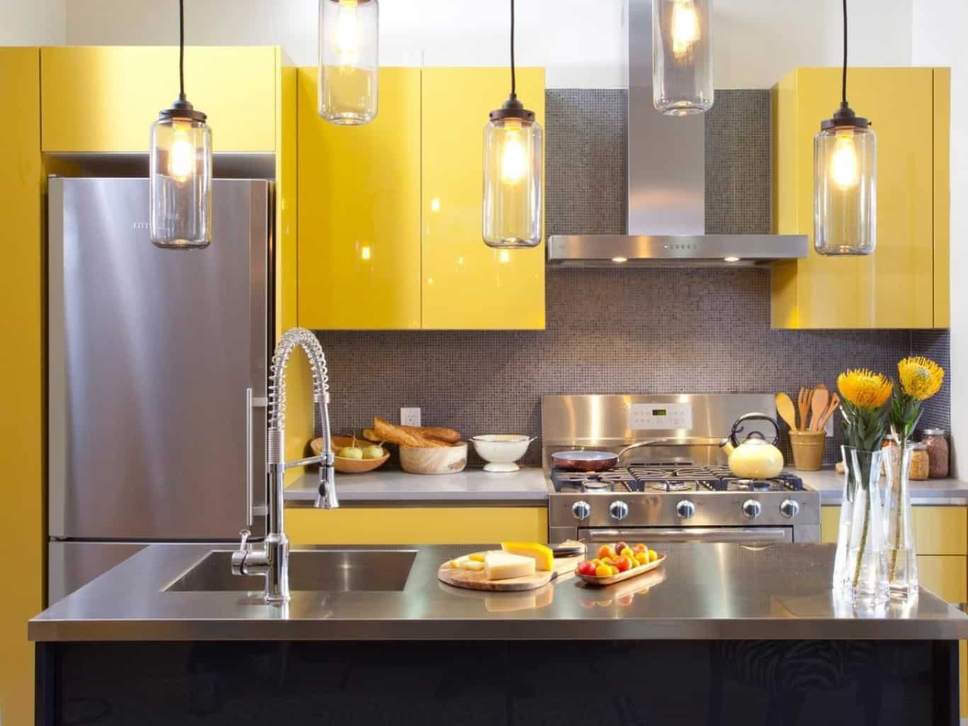 19. Yellow Cabinets