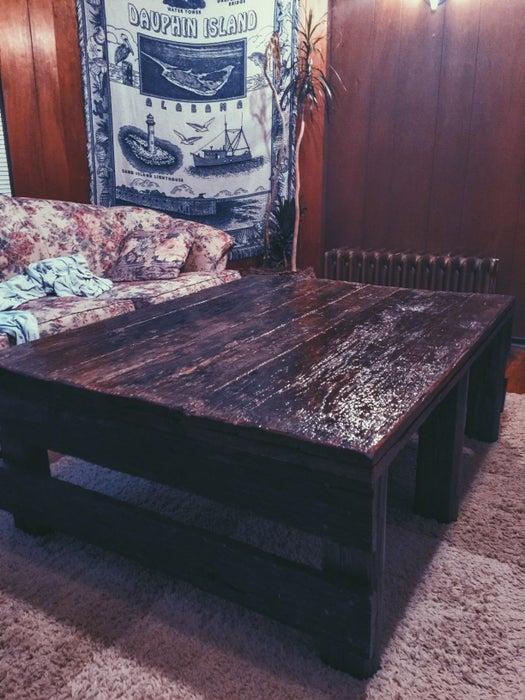 2. Black Coffee Table DIY