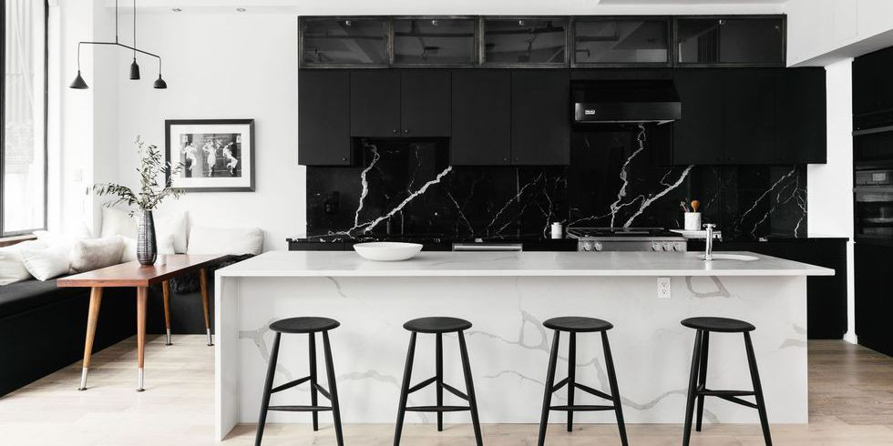 2. Black Kitchen Cabinets