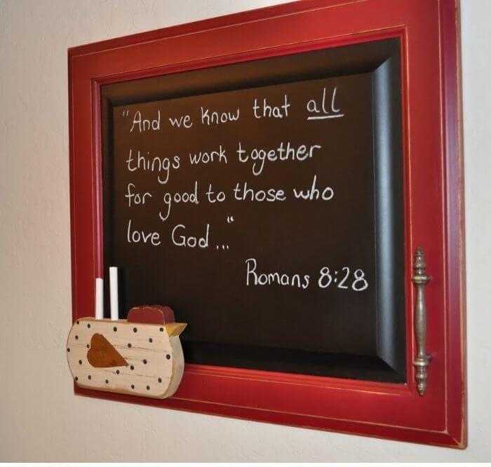 2. Cabinet Door Chalkboard