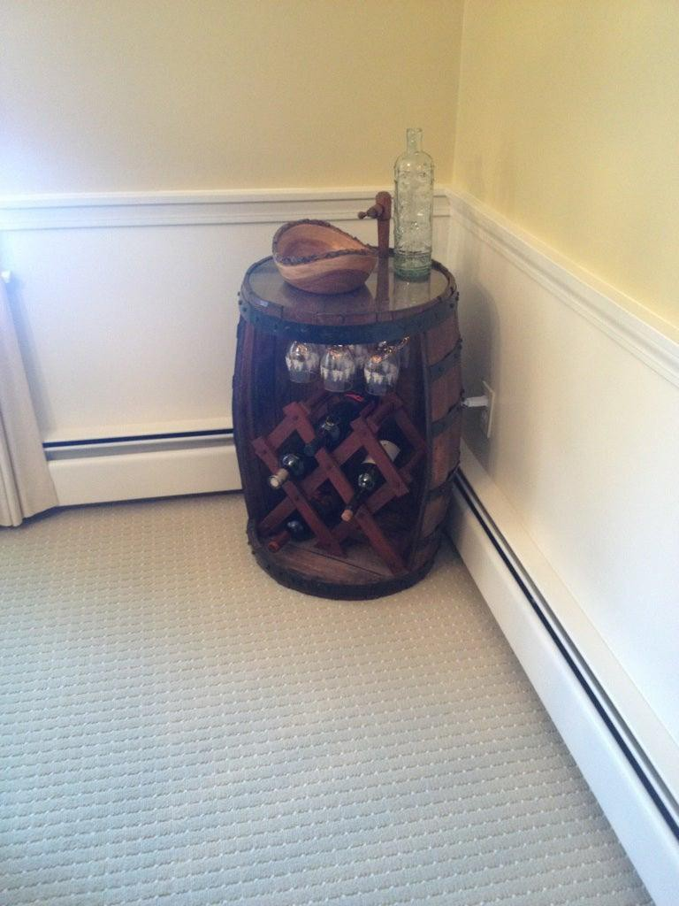 2. DIY Barrel Wine Rack