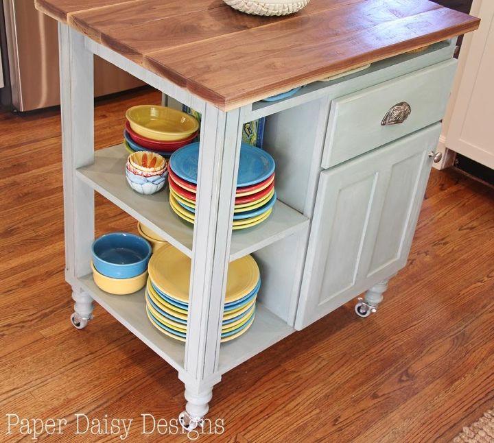 2. DIY Kitchen Island For Small Kitchen