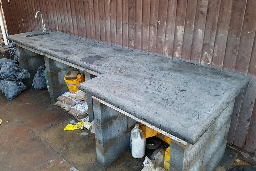 2. DIY Outdoor Kitchen With Concrete