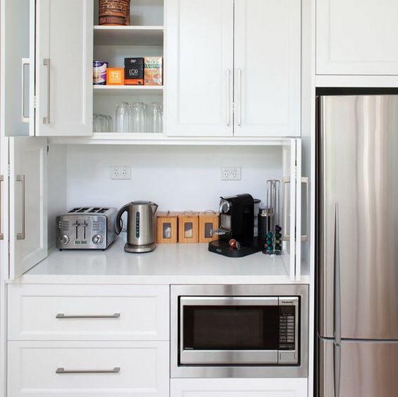 2. Small Kitchen Appliance Storage Idea