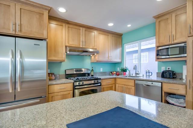 2. Teal Kitchen Paint