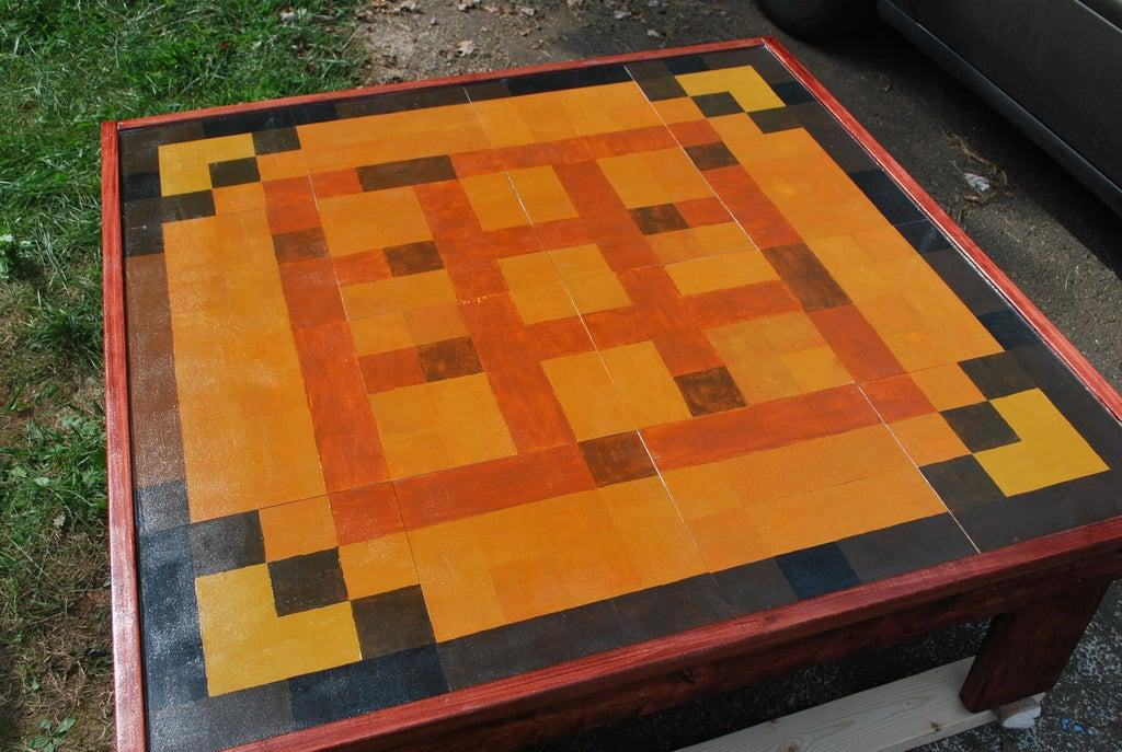 20. DIY Minecraft Coffee Table