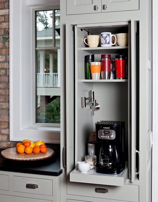 20. Dedicated Pull Out Storage For Coffee Make