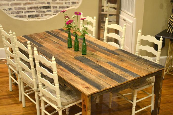 20. Large Pallet Kitchen Table