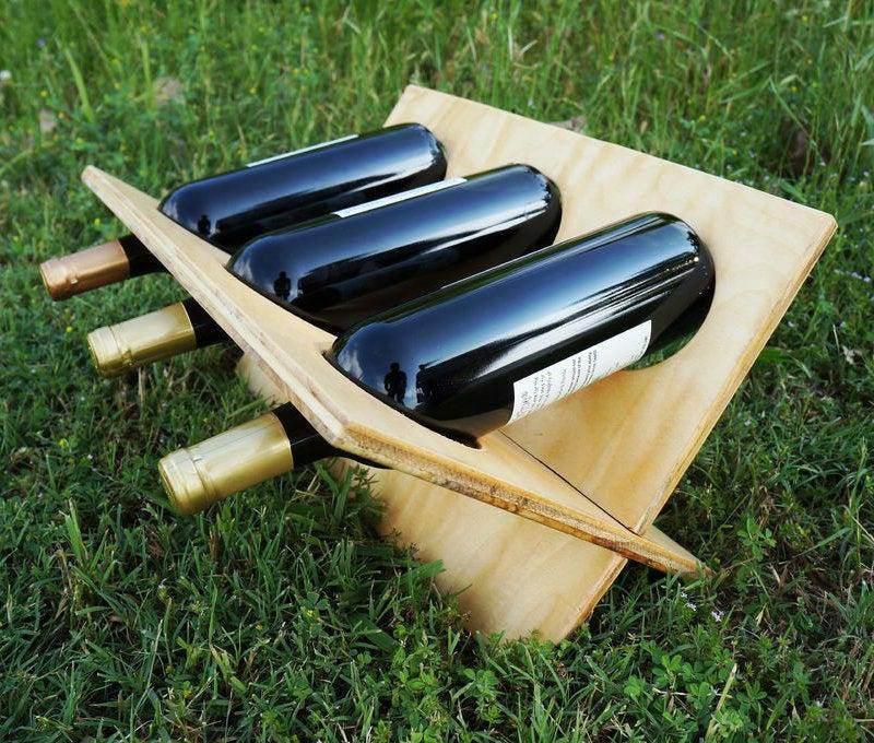 20. Outdoor Wine Rack DIY
