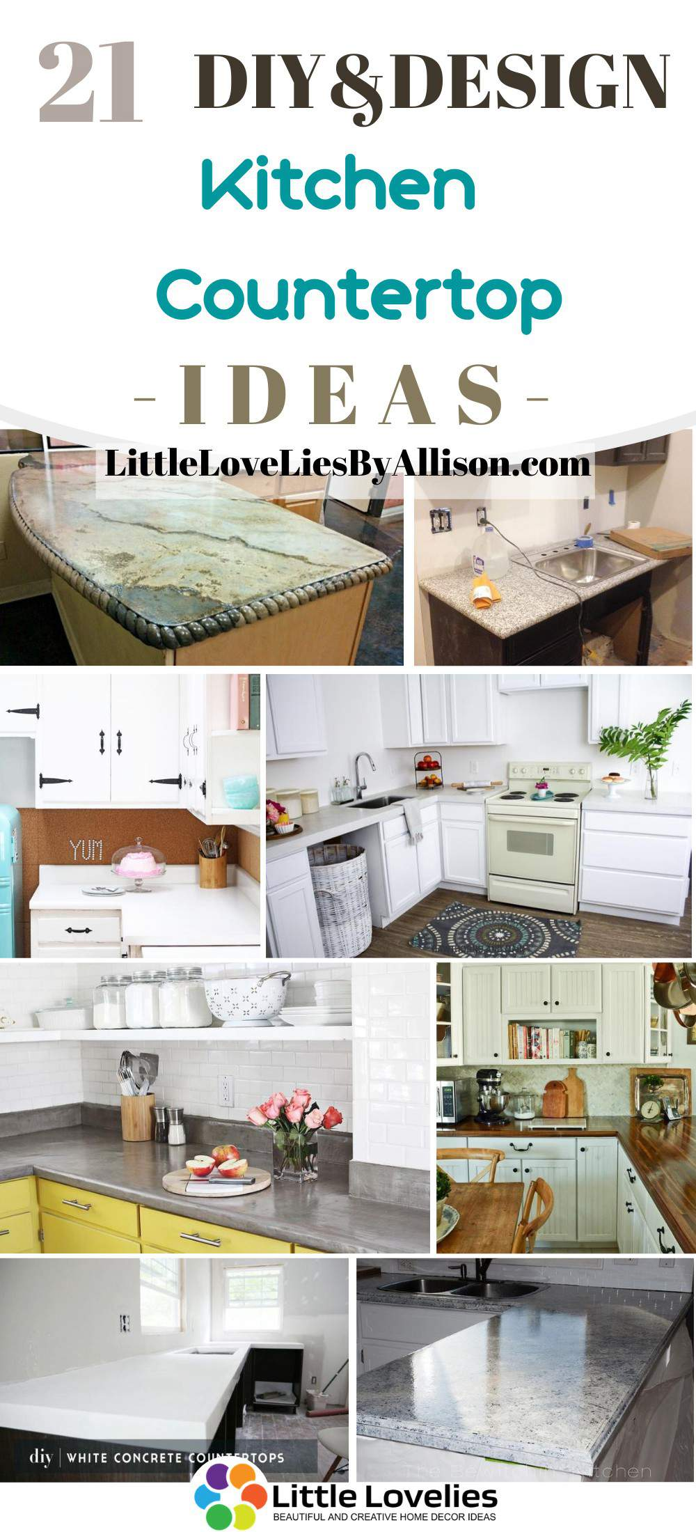 21 Diy Kitchen Countertop Ideas You Can Make For Your Kitchen