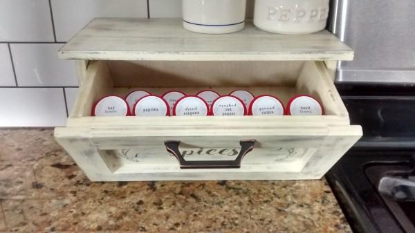 21. DIY Countertop Spice Storage Bin